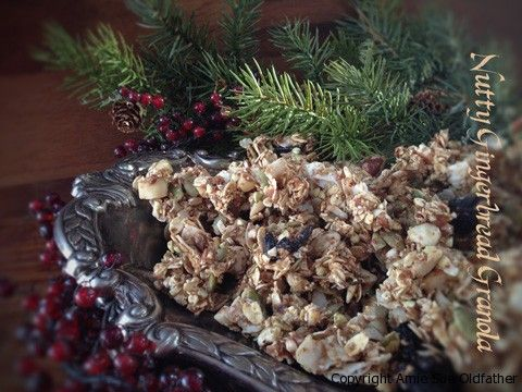 Nutty Gingerbread Granola