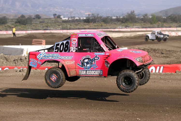 The hot pink Modified Kart driven by Brooke Kawell continues to break ground at every Lucas Oil Off Road Racing Series event