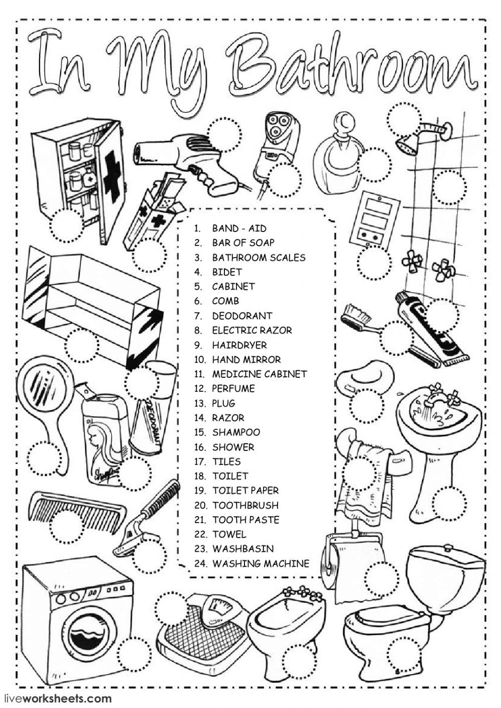The house interactive and downloadable worksheet. You can