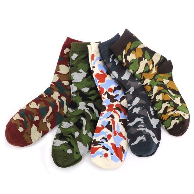 6de32464ddd2 5Pair Funny Socks Men Camouflage Colorful Socks Art Male Sock Short Novelty  Breathable Men's Socks Hip Hop Chaussette Homme