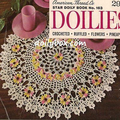 Free Crochet Pattern Comos Floral Doily Free Crochet Floral Flower