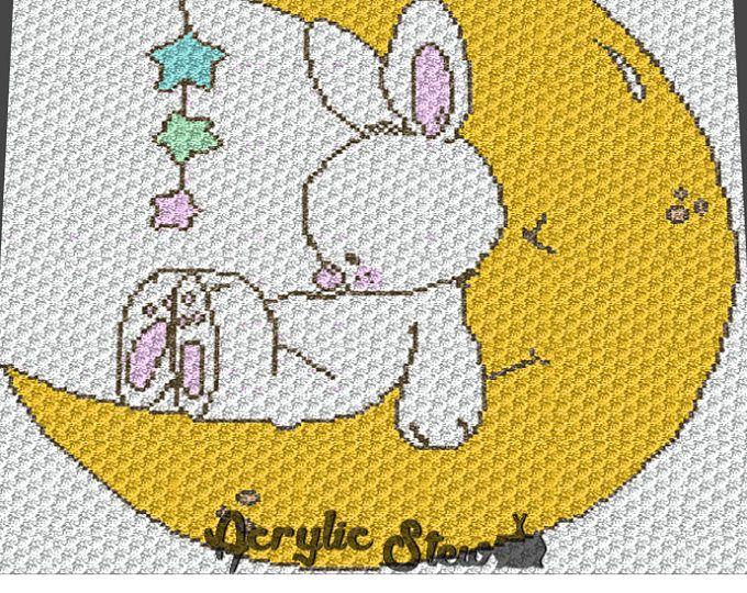 Graphgan Pattern - Corner to Corner - C2C Crochet - Baby Bunny ...