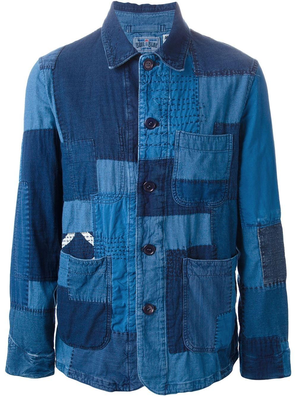 Blue Blue Japan Blue Patchwork Denim Jacket For Men Denim Patchwork Denim Jacket Men Denim Jacket