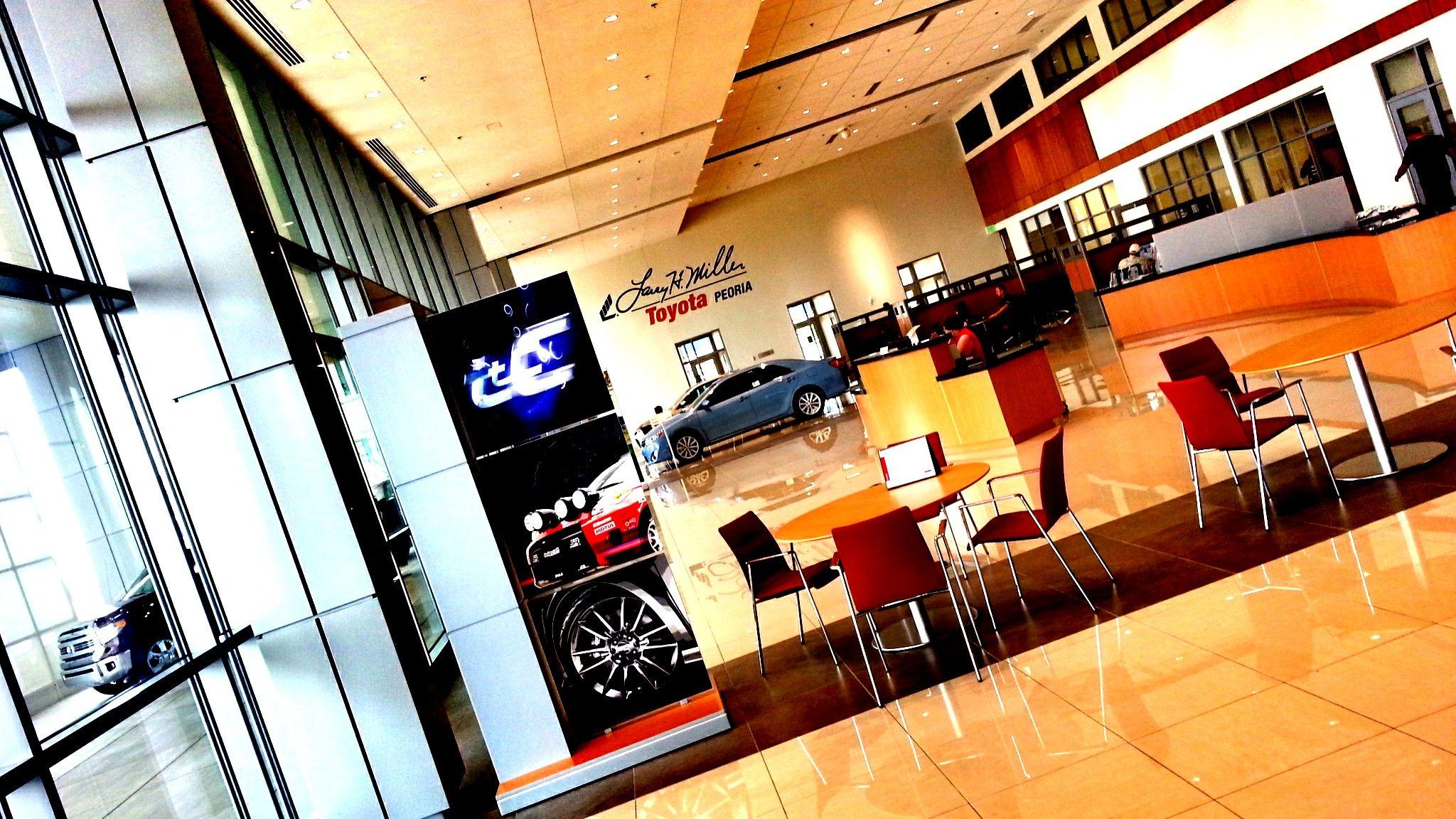 New Lobby Toyota Dealership Dealership Peoria Az