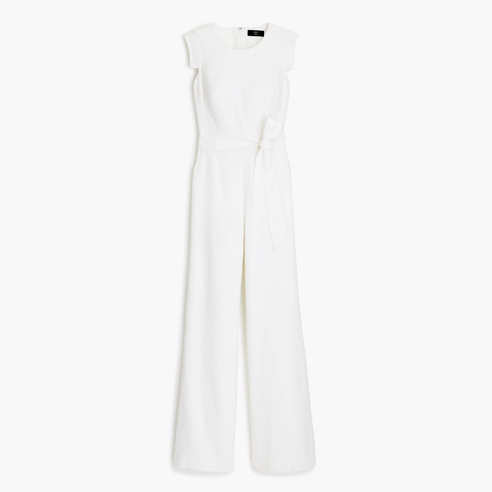 Shop J Crew For The Resume Jumpsuit In Stretch Linen For Women