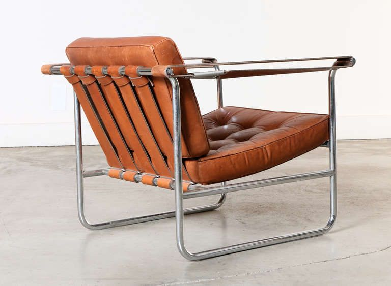 Awesome Pair Of Leather And Chrome Lounge Chairs By Karl Thut For Theyellowbook Wood Chair Design Ideas Theyellowbookinfo