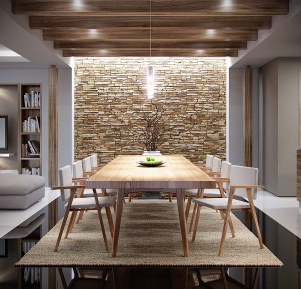 29 Cool White Gravel Decorative Ideas: Inspiring Interior Accent Using Stone Wall
