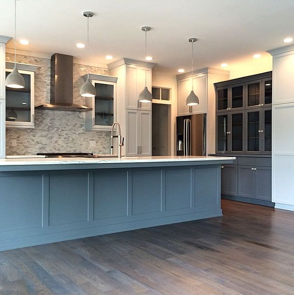Merrilat Dusk Color Cabinets: Backsplash; Lighting; Jeff Lewis Color- Carbon_Dusk