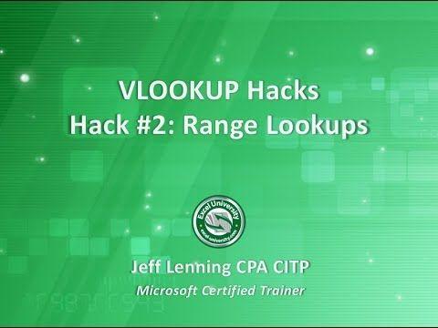 VLOOKUP Hack #2 Range Lookups Excel University Project