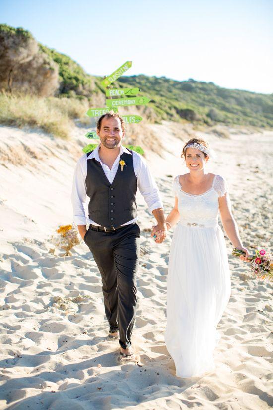 Aline And Mat S Bright Casual Beach Wedding