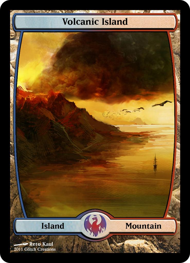 Volcanic Island Proxy | Magic The Gathering Proxies | Pinterest ...