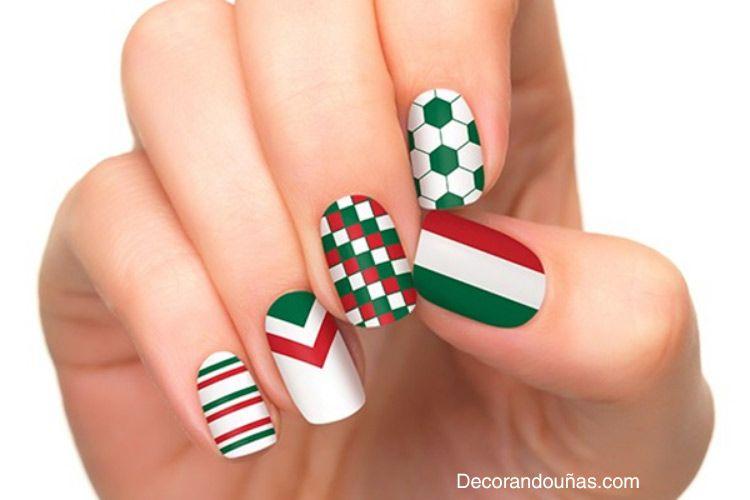 Mexican nail art designs 2014 | Uñas | Pinterest | Fiebre, Los ...