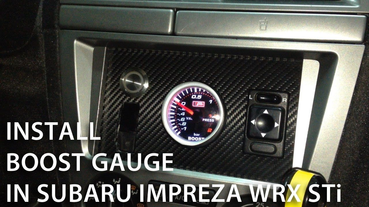 How to install boost gauge in Subaru Impreza WRX STi (custom