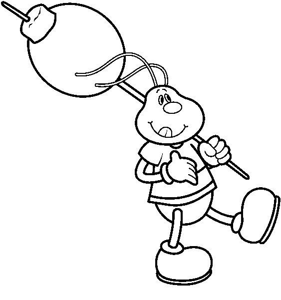 picnic ant christmas coloring pages