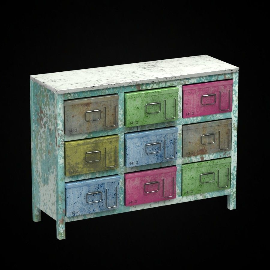 Colored Recycled Storage
