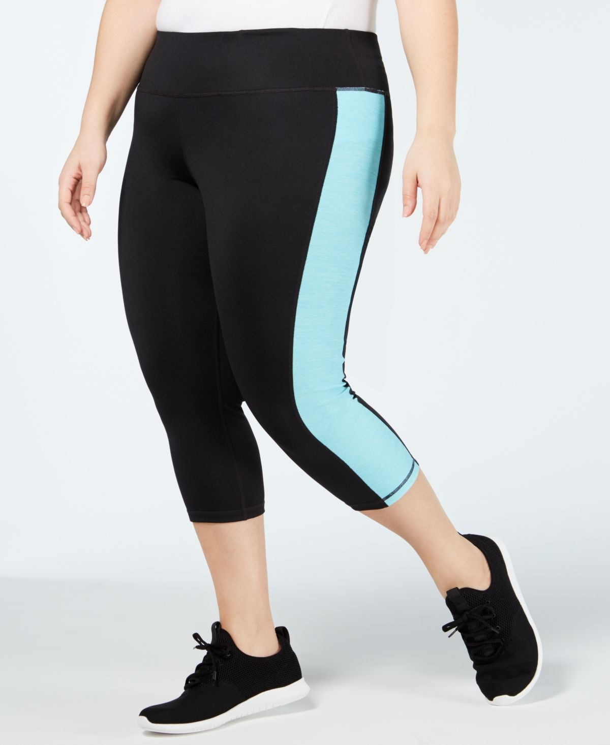 Photo of Plus Size Colorblocked Cropped Leggings, Created for Macy's