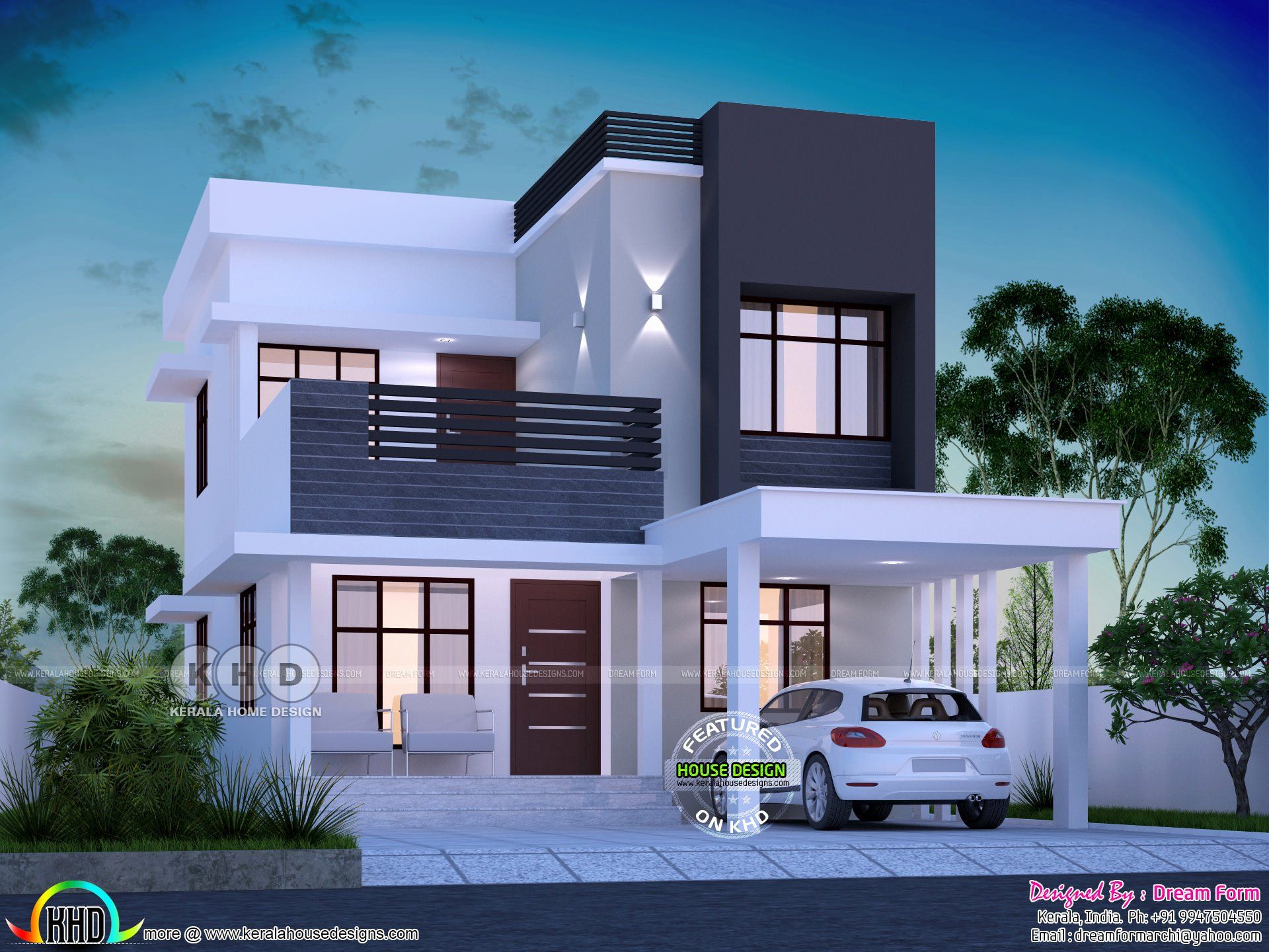 3 Bedroom Contemporary House Plans Fresh 1645 Square Feet 3 Bedroom Modern House Plan In 2020 Modern Small House Design House Designs Exterior Contemporary House Plans