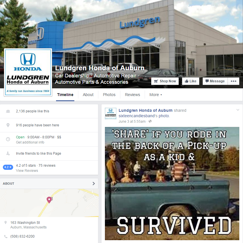 Stay Up To Date With Lundgren Honda Of Auburn On Facebook Like Our Page At