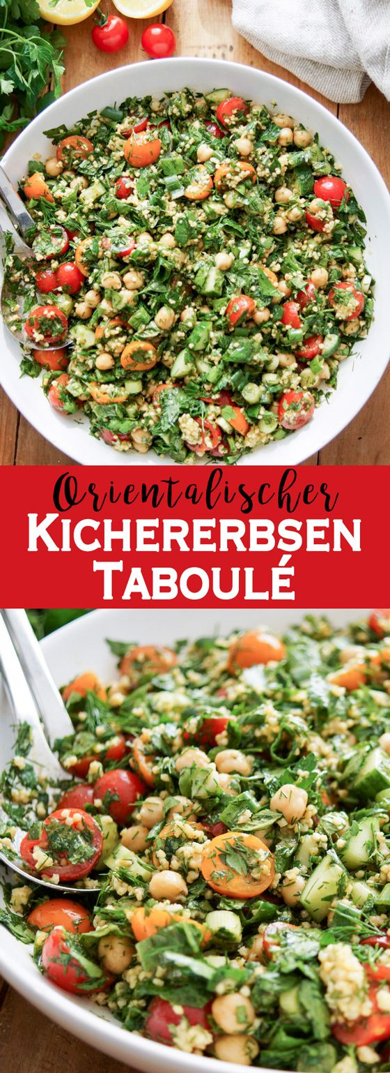 Photo of Chickpeas tabbouleh with fresh herbs