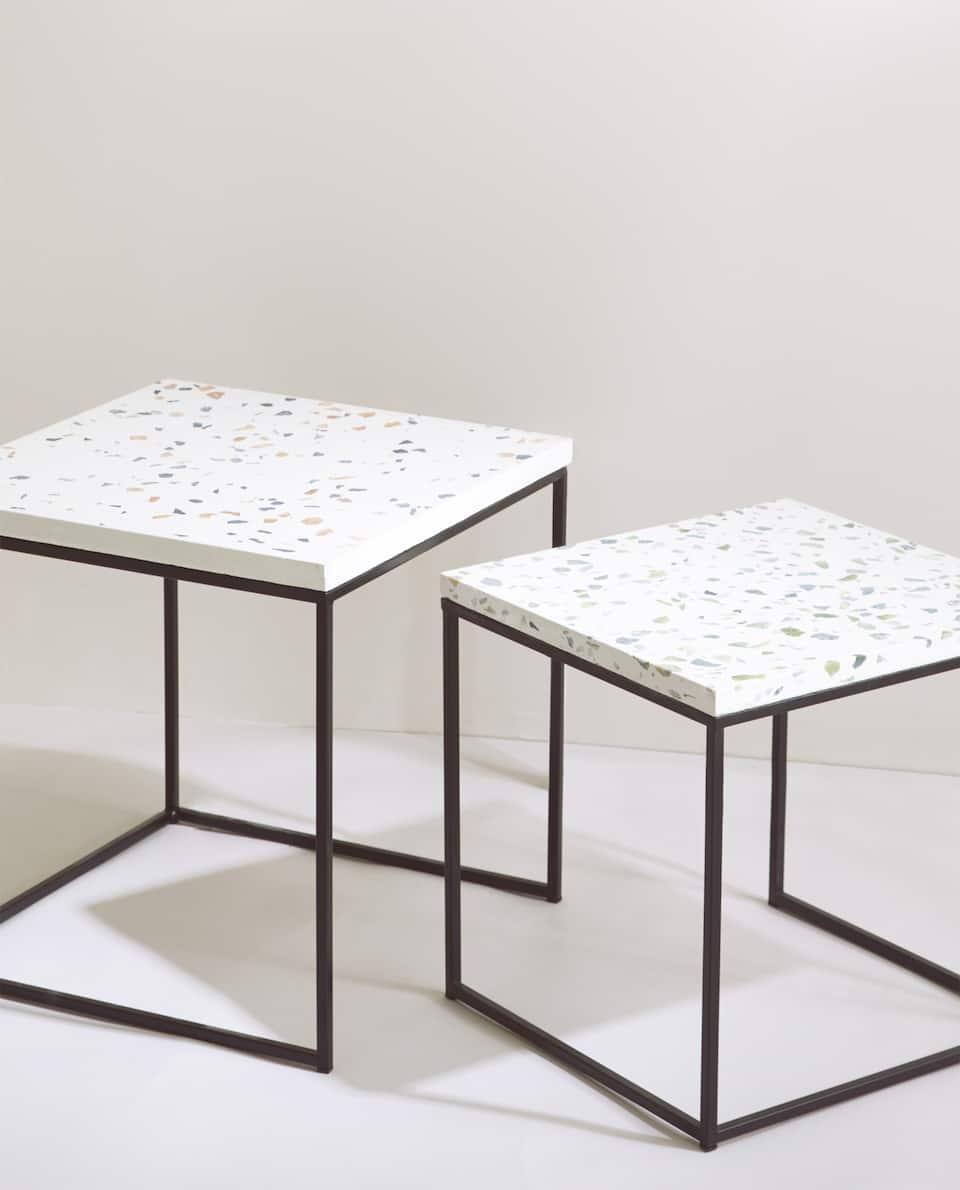 Eikona Toy Proiontos Trapezi Zigkon Mwsaiko Marble Round Coffee Table Terrazzo Furniture Table Top Design [ 1190 x 960 Pixel ]