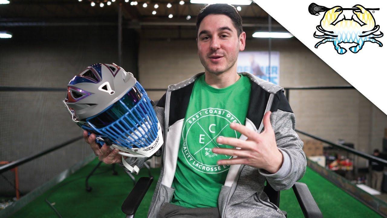 A full custom lacrosse helmet by east coast dyes custom