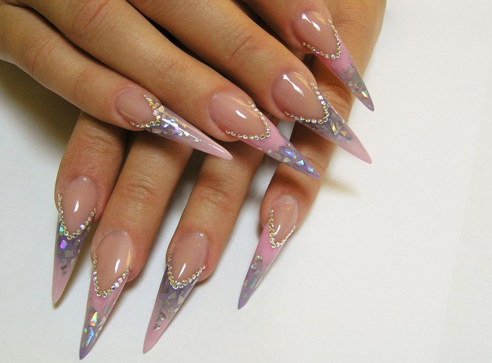 Beautiful Pointy Nails | Manicure | Pinterest | Pointy nails, Nail ...