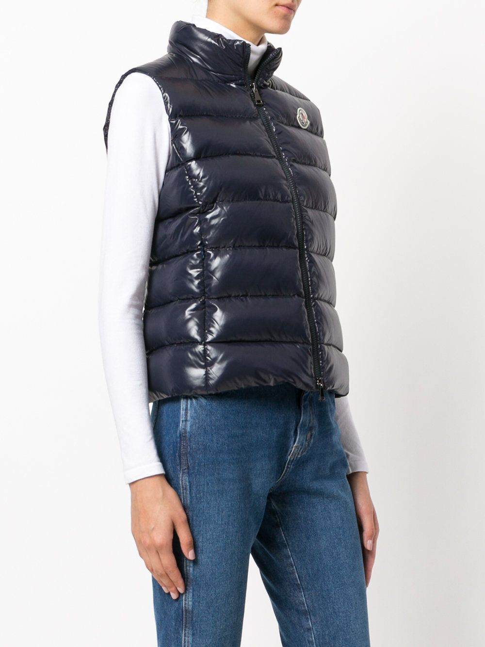 MONCLER Down Jackets 17 AW GHANY stand collar navy down vest 3