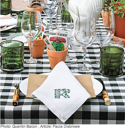 Table Setting - The Ultimate Backyard Pizza Party - Southern Living & Table Setting http://www.southernliving.com/food/entertaining/the ...