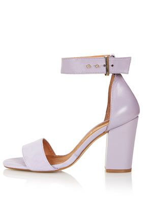 e0f46f5070c2 Lilac suede ankle strap heeled sandals from  TopShop Lilac Heels