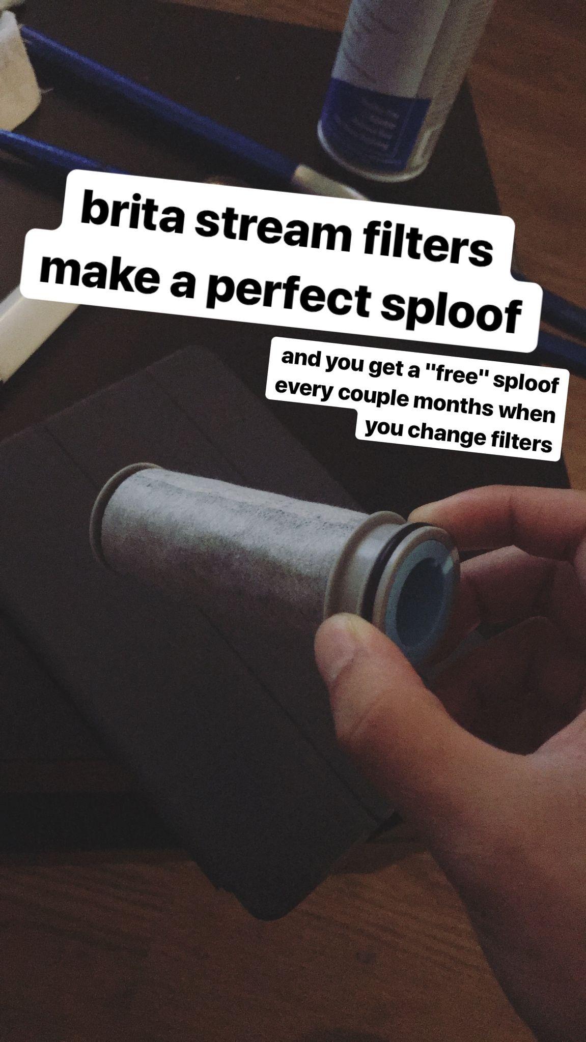 brita stream filters make the perfect sploof! (carbon filter