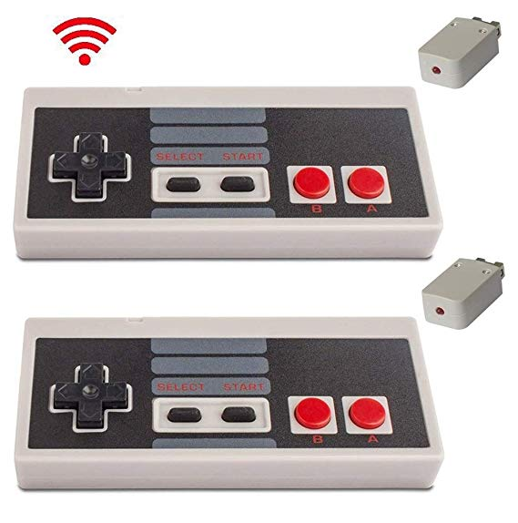 Amazon Com Wireless Controller For Nes Classic Edition With Build In Rechargeable Battery Gamepad Compatible With M Mini Nes Nes Classic Wireless Controller