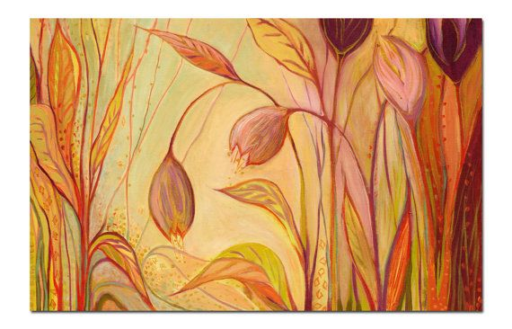 Floral Abstract The Enchantment 8 x 12 inch Fine Art by jenlo262, $30.00