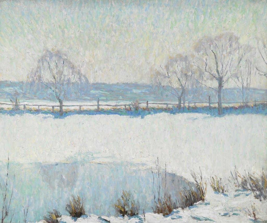 A Winter Pool, Allen Tucker 1866-1939