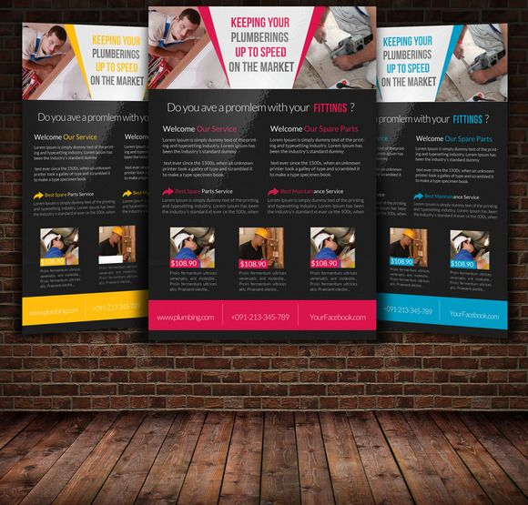 Handyman  Plumber Services Flyer  Adobe And Fonts