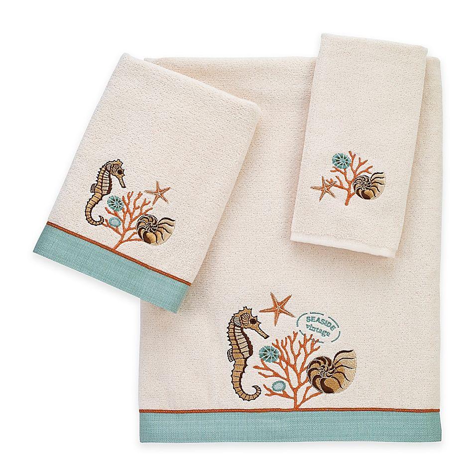 Avanti Seaside Vintage Fingertip Towel Vintage Bath Vintage