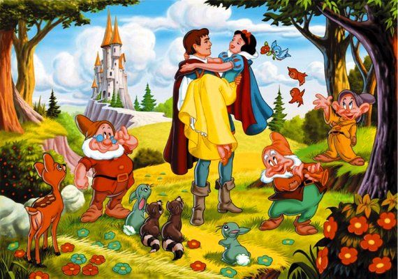 BUY 2 GET 1 FREE! Snow White and the Seven Dwarfs  375 Cross Stitch Pattern Counted Cross Stitch Cha