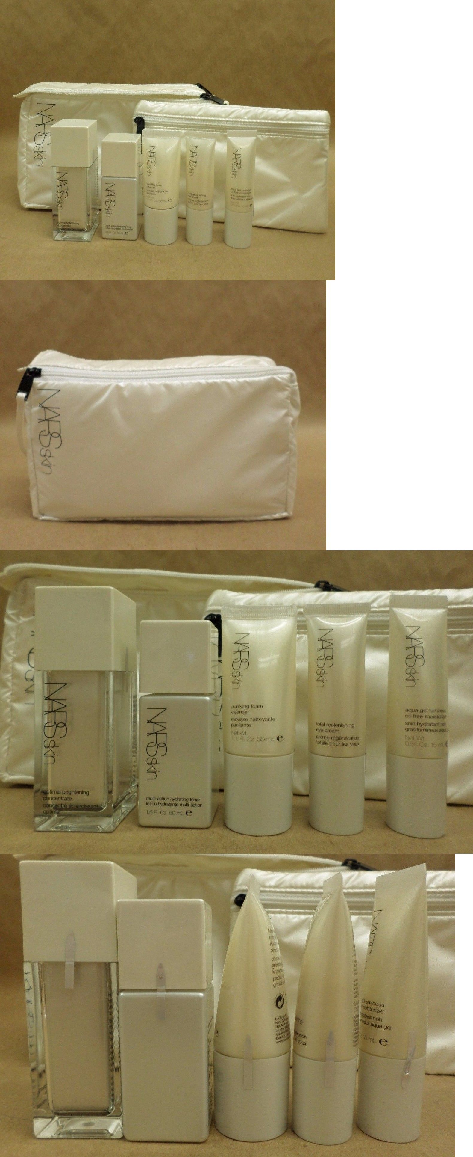 Sets and Kits: Nars Skin Luminous Aqua Set For Oily And Combination Skin With Bag Brand New BUY IT NOW ONLY: $34.19