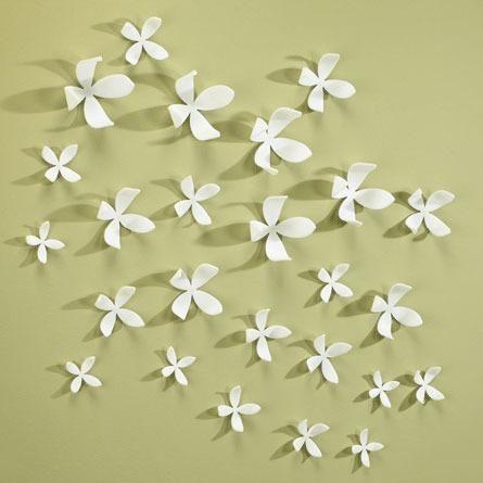 Wanddecoratie bloemen wit (set van 25) - Umbra | wall living room ...