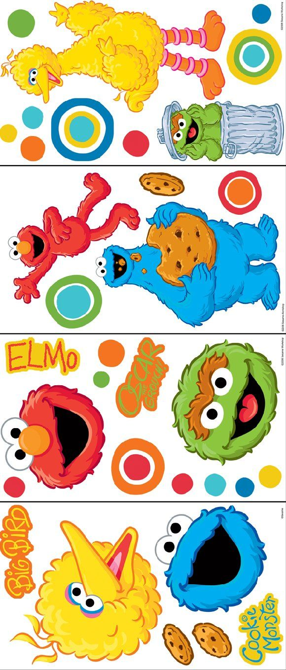 Sesame Street Big Dot Room Appliques - Wall Sticker Outlet | Iris ...