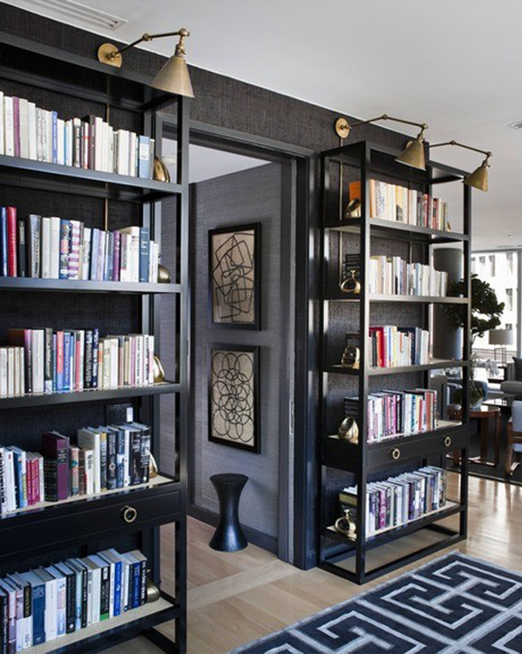 10 Of My Favorite Libraries With Black Walls