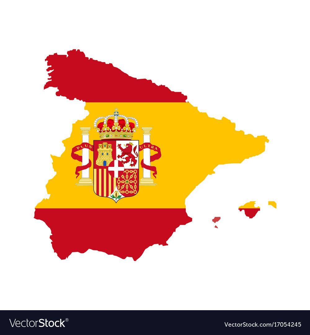 Map Of Spain Vector Free.Spain Map With Spain Flag Inside Royalty Free Vector Image Ad