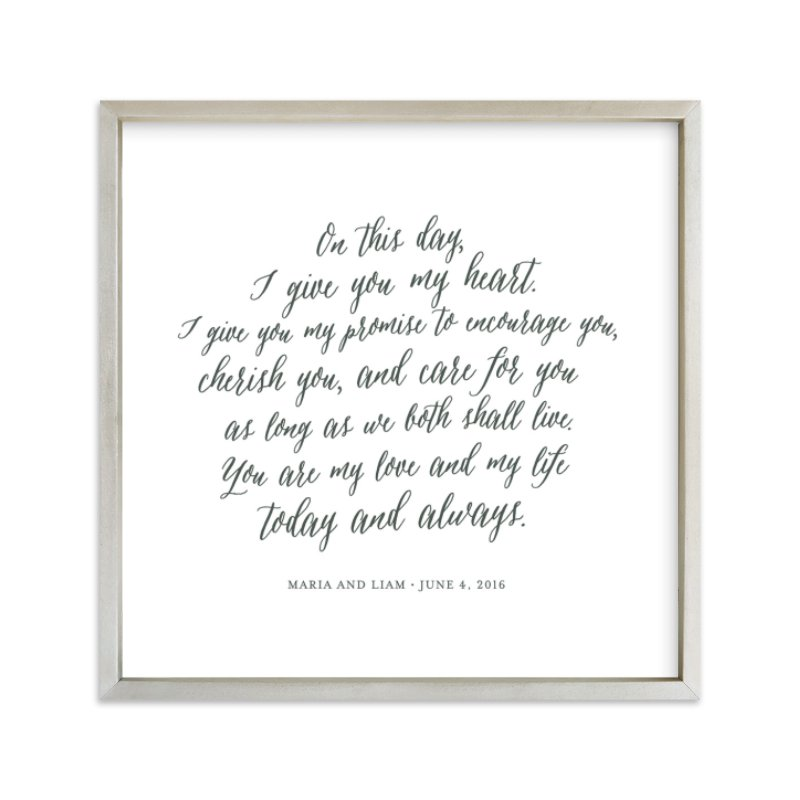 Your Vows as an Art Print Kids Drawn Art by Minted