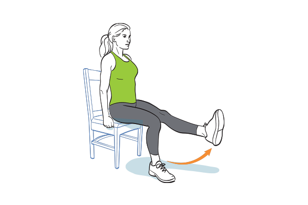 12 Ways To Work Out When The Only Prop You Ve Got Is A Chair Chair Exercises Workout Seated Exercises