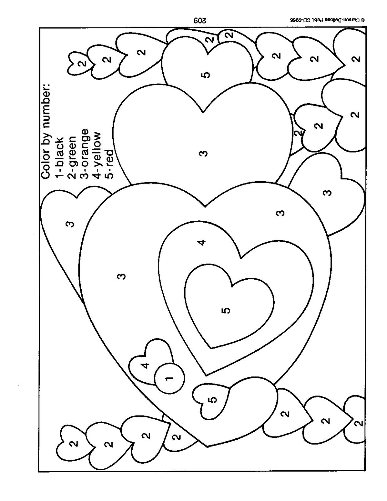photo valentine 39 s day color by number and unnumbered coloring pages fall coloring pages. Black Bedroom Furniture Sets. Home Design Ideas