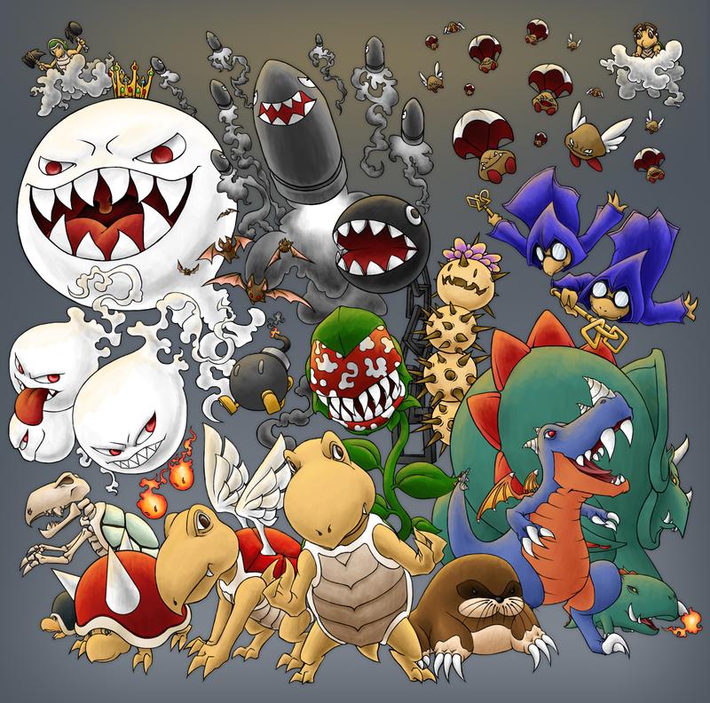 Mario Monsters by Kevichan.deviantart.com on @deviantART