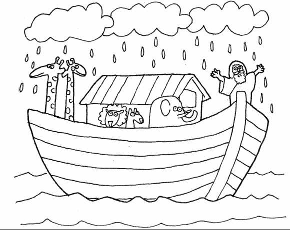 Dibujos De La Biblia Para Colorear E Imprimir: Dibujos De Pintar Para Imprimir Del Arca De Noe (3