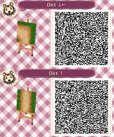 Acnl dirt path set 6 vert and upper left corner acnl Boden qr codes animal crossing new leaf
