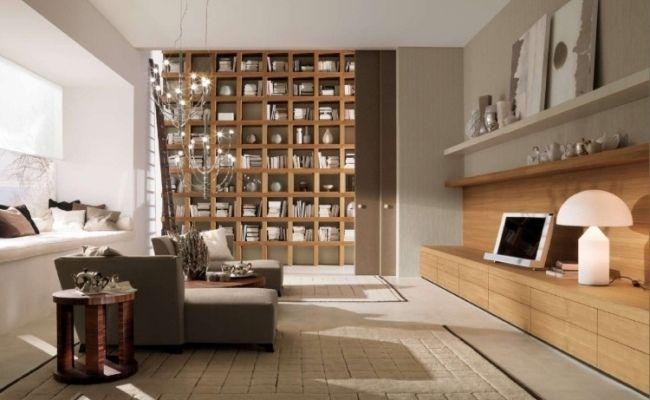neutrale farben ideen modernes haus bibliothek | Shelves | Pinterest ...