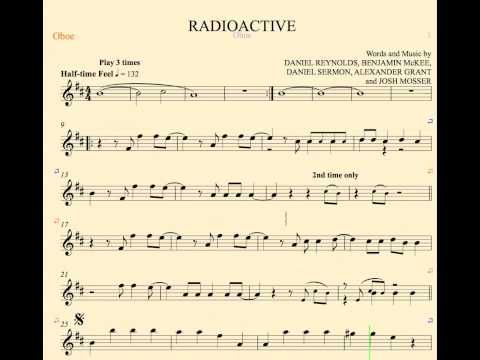 Radioactive Imagine Dragons Oboe Sheet Music Chords And
