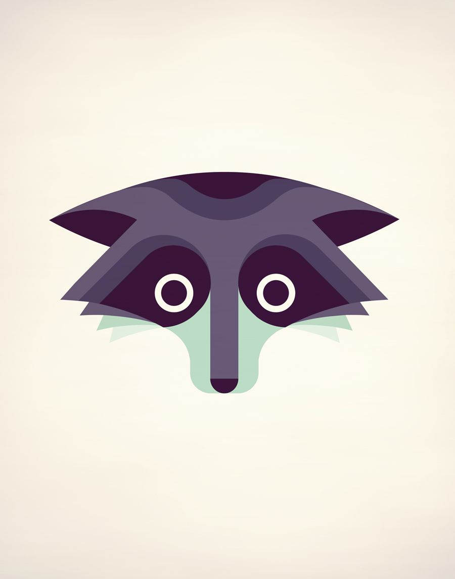 Square inch design — The Raccoon